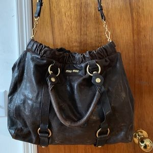 Vintage Leather Miu Miu-LIKE Two Way Tote